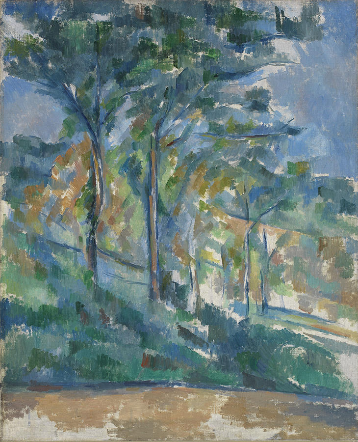 Landscape painting by paul cezanne for Garden design 1900