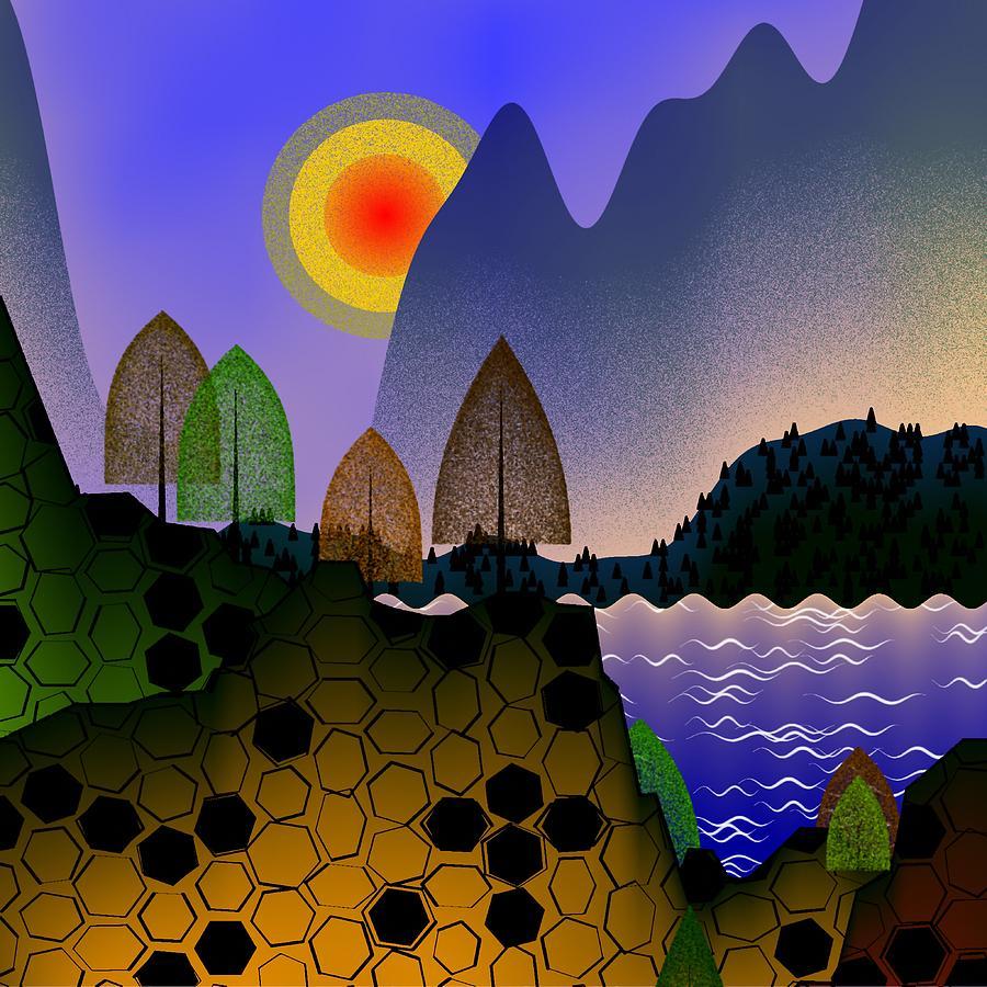 Landscape Digital Art - Landscape by GuoJun Pan
