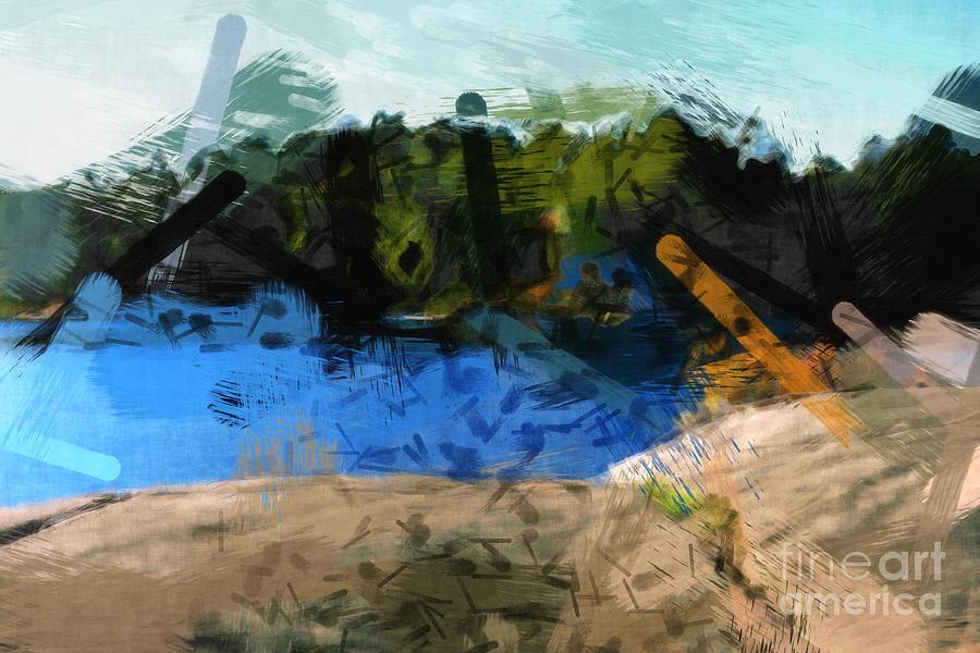 Landscape Impact Painting - Landscape Impact by Lutz Baar