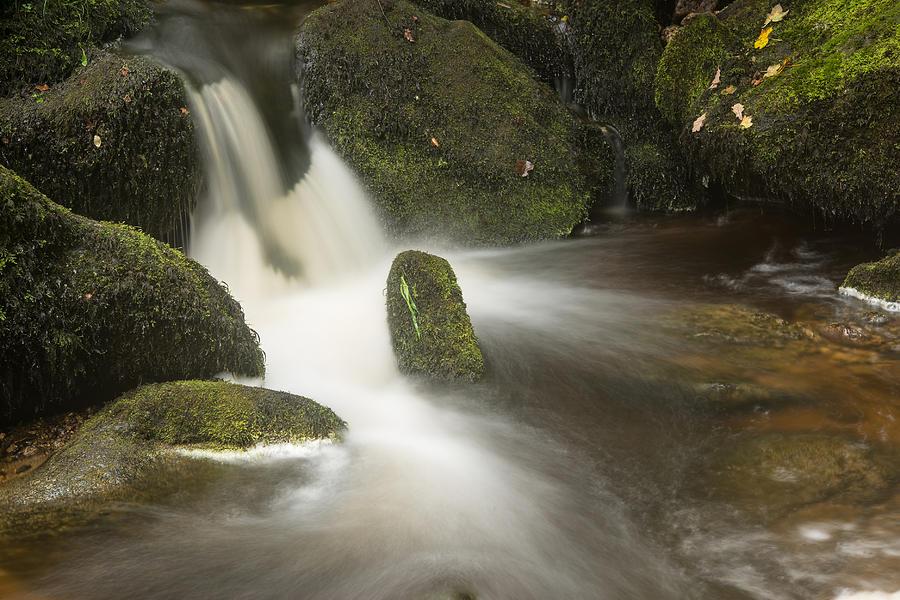 Landscape Photograph - Landscape Of Becky Falls Waterfall In Dartmoor National Park Eng by Matthew Gibson