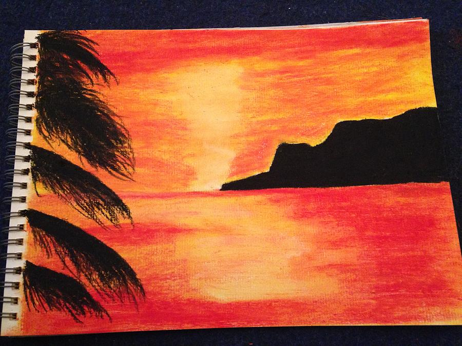 A4 Landscapecan Be Made To Order On Canvas Etc And Can Be Different Sizes Pastel - Landscape Sunset by  Jessica Hope