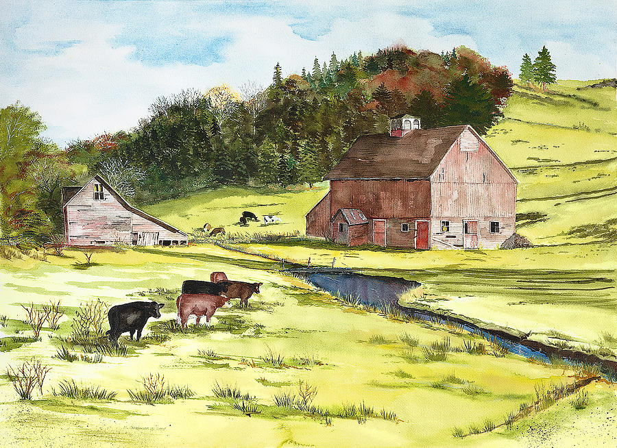 Susan Painting - Lanesboro Barn by Susan Crossman Buscho