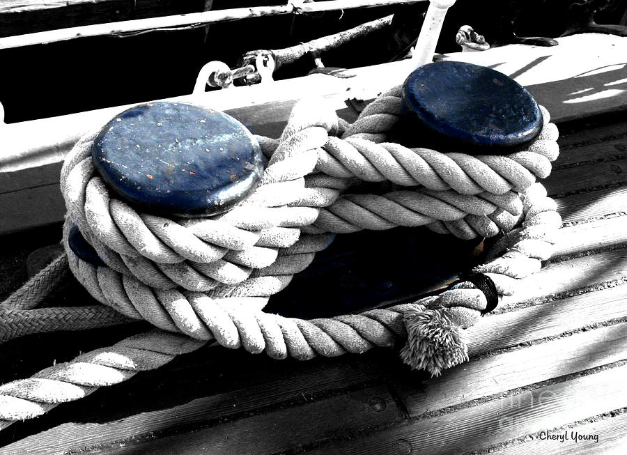 Large Dock Cleat Photograph