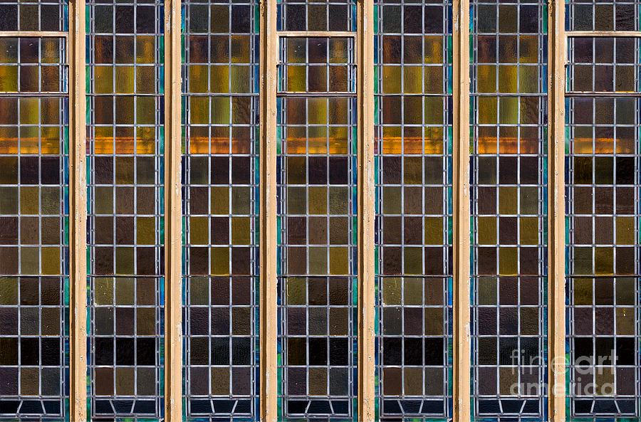Large Stained Glass Window Photograph By Les Palenik