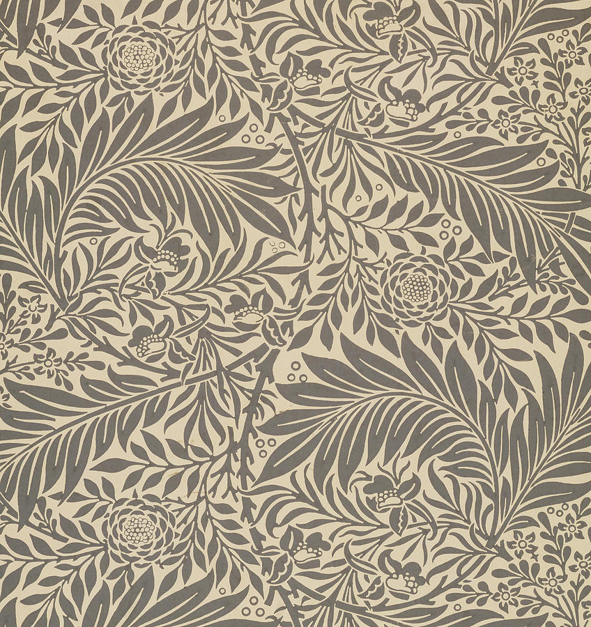 Larkspur wallpaper design painting by william morris for Arts and crafts style prints