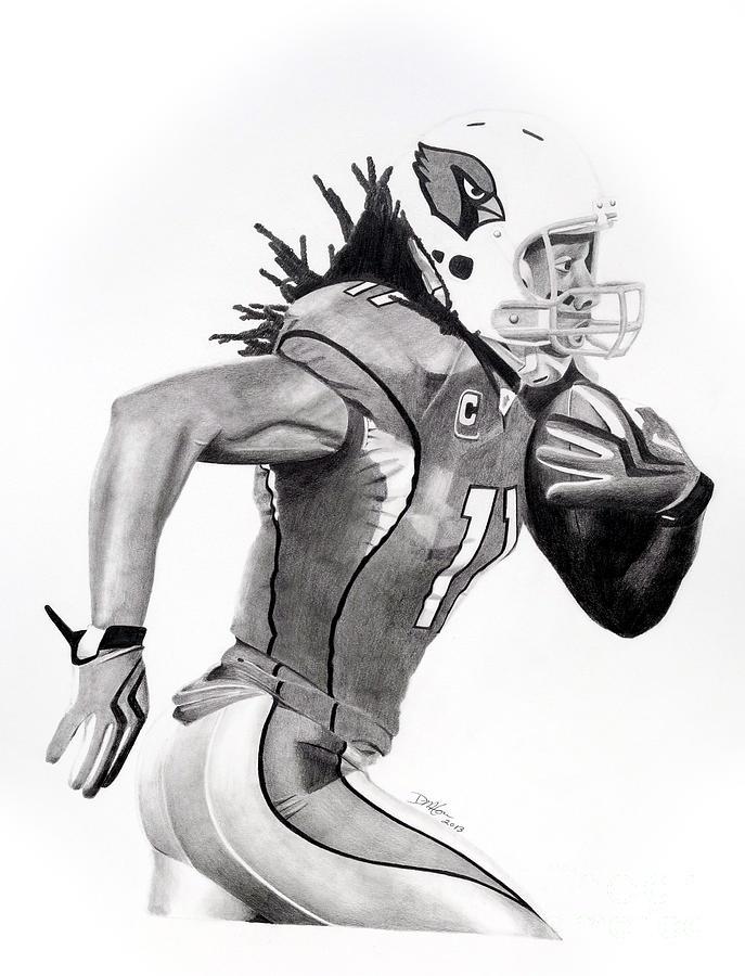 Larry Fitzgerald Fitz Drawing