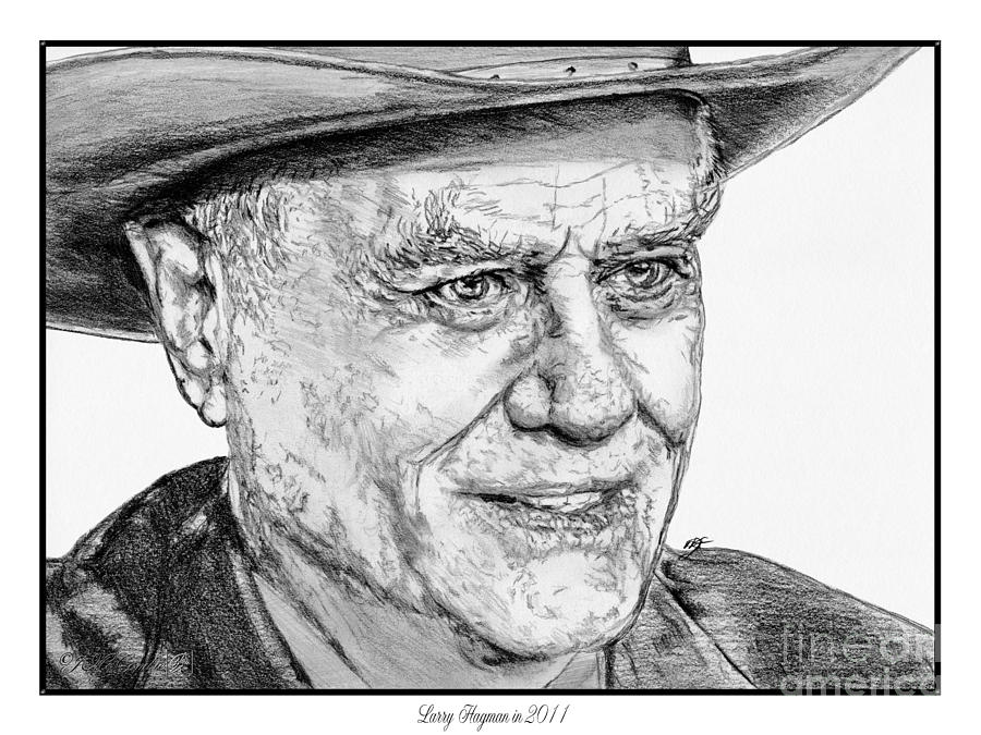 Larry Hagman Drawing - Larry Hagman In 2011 by J McCombie
