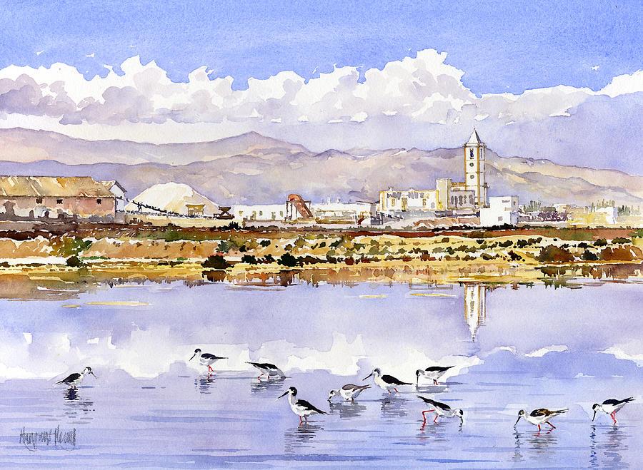 Las Salinas De Cabo De Gata Painting