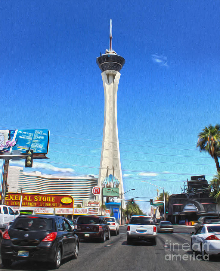 Stratosphere Photograph - Las Vegas - Stratosphere by Gregory Dyer