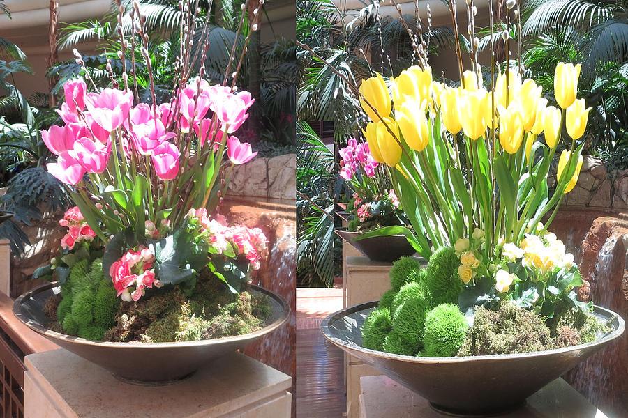 Las vegas flower arrangements interior decorations casinos