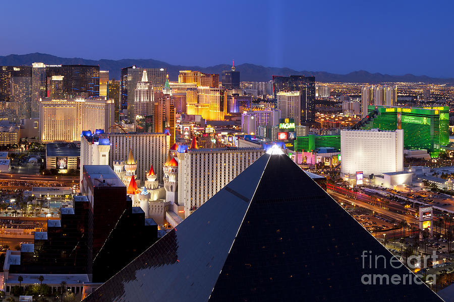Las Vegas Skyline Photograph