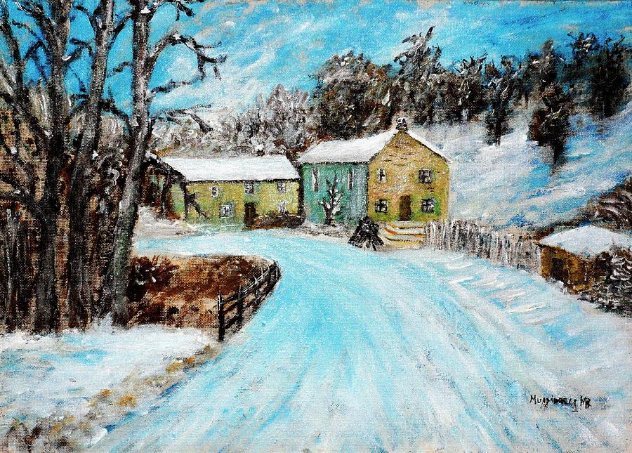 Mountain Home Painting - Last Days Of Winter by Mauro Beniamino Muggianu