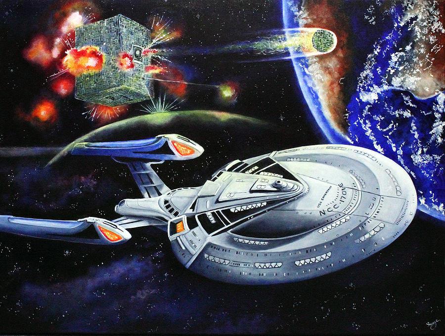 Star Trek Painting - Last Hope by Richard Savage