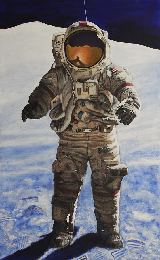 Last Man - Apollo 17 Painting  - Last Man - Apollo 17 Fine Art Print