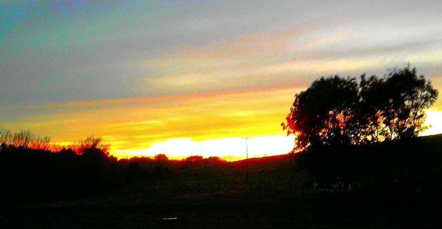Landscape Photograph - Last Nights Sunset by Geoff Cooper