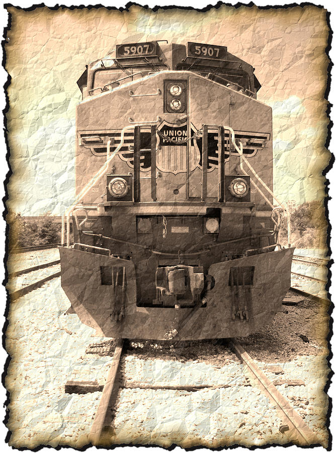 Art166 Digital Art - Last Train by Wendy J St Christopher