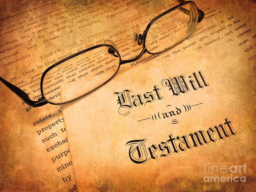 Last Will And Testament Photograph  - Last Will And Testament Fine Art Print