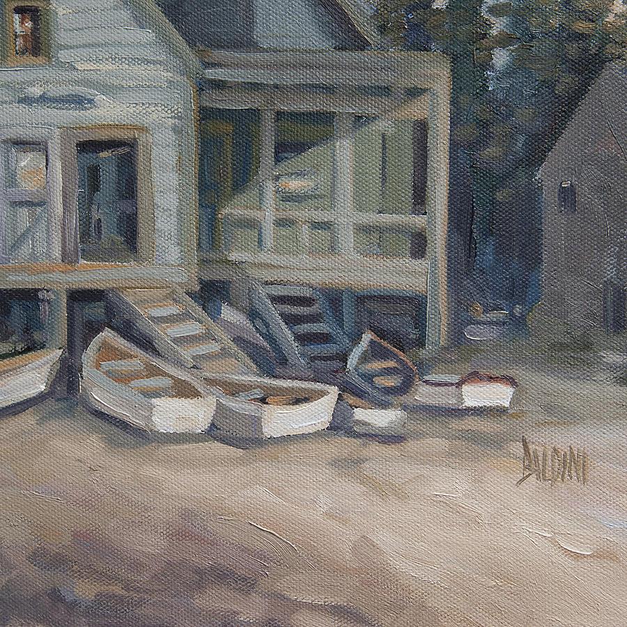 Late Day Monhegan Painting