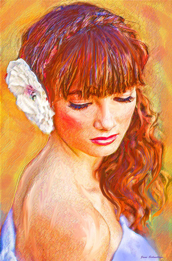 Latina Beauty Digital Art