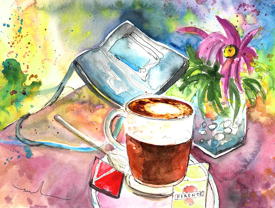 Impressionism Painting - Latte Macchiato In Italy 01 by Miki De Goodaboom