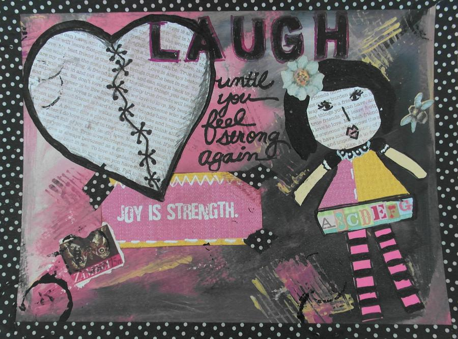 Laugh Mixed Media  - Laugh Fine Art Print