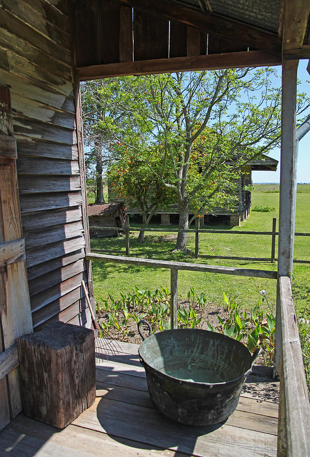 Laura Plantation Slaves Porch Photograph