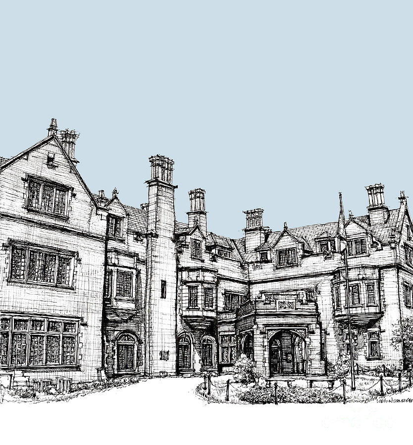Laurel Hall In Light Blue Drawing