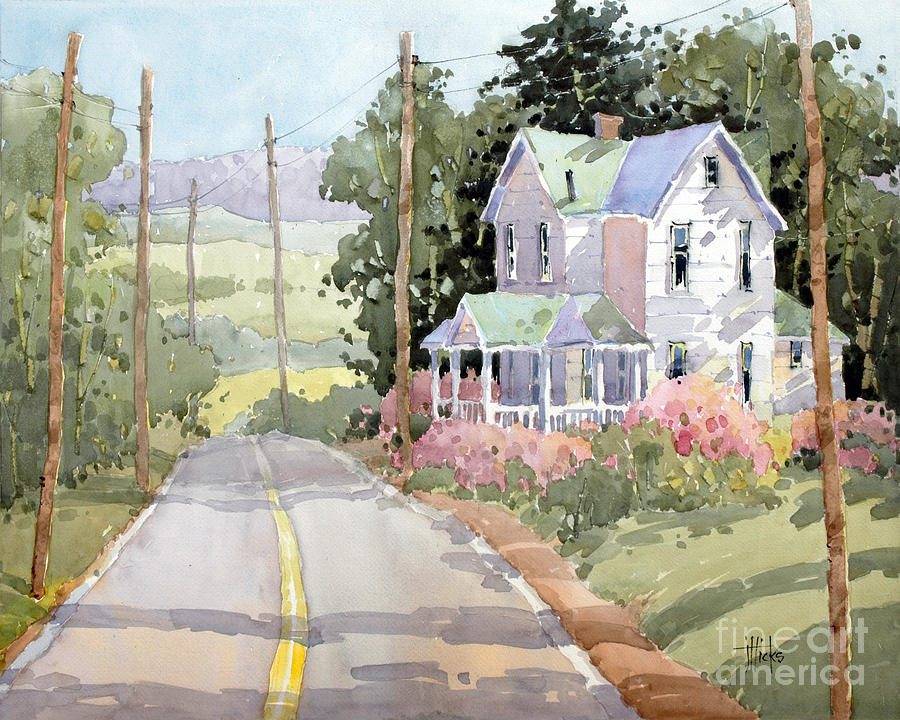 Laurel Mountain Highlands Farm By Joyce Hicks Painting