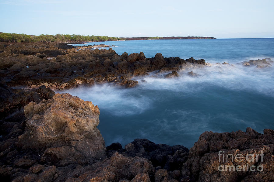 Lava Rock Shore Photograph
