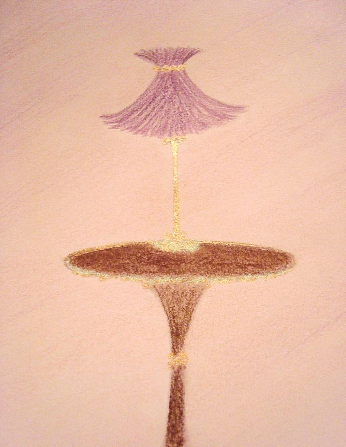 Lavendar Lamp Drawing