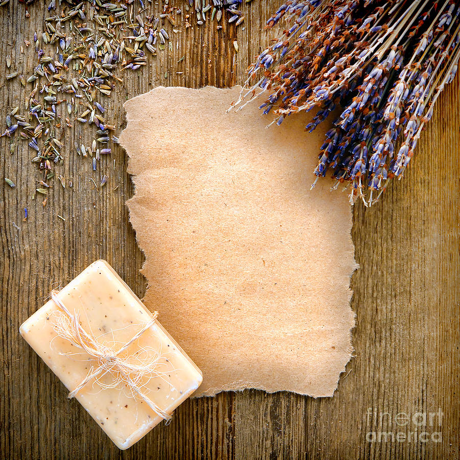 Lavender Flowers And Soap Photograph  - Lavender Flowers And Soap Fine Art Print