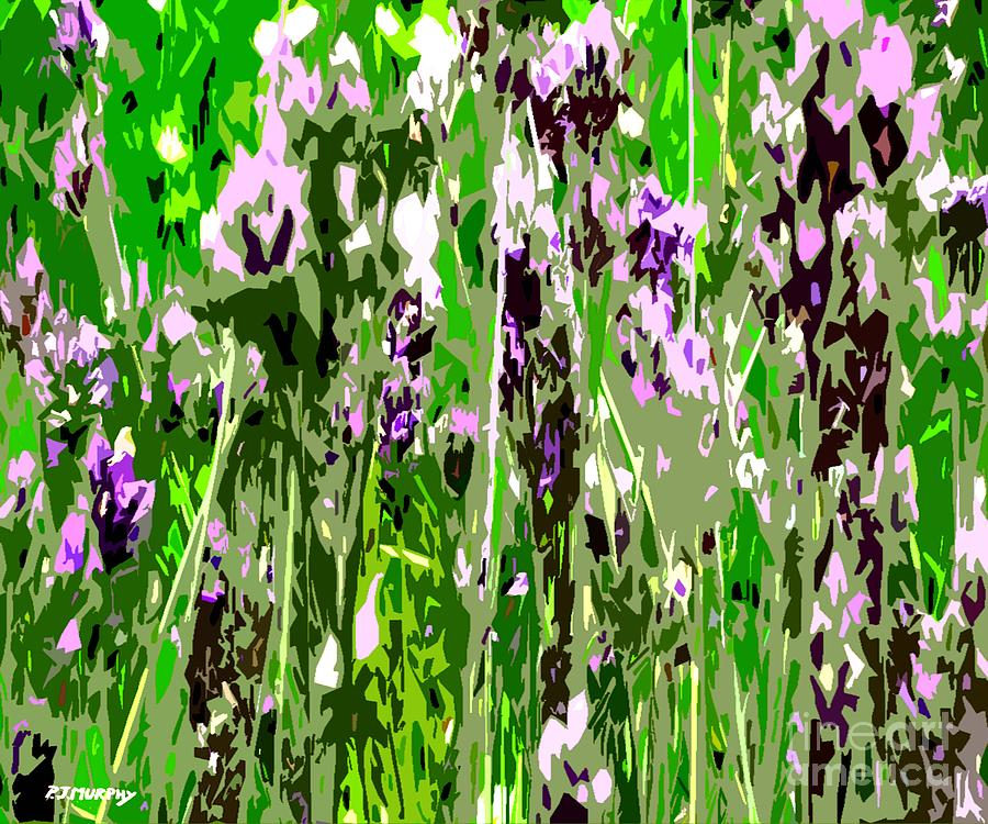 Lavender In Summer Painting  - Lavender In Summer Fine Art Print