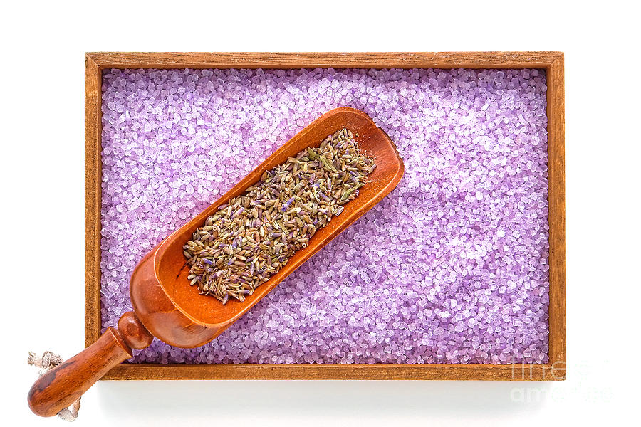 Lavender Seeds And Bath Salts Photograph