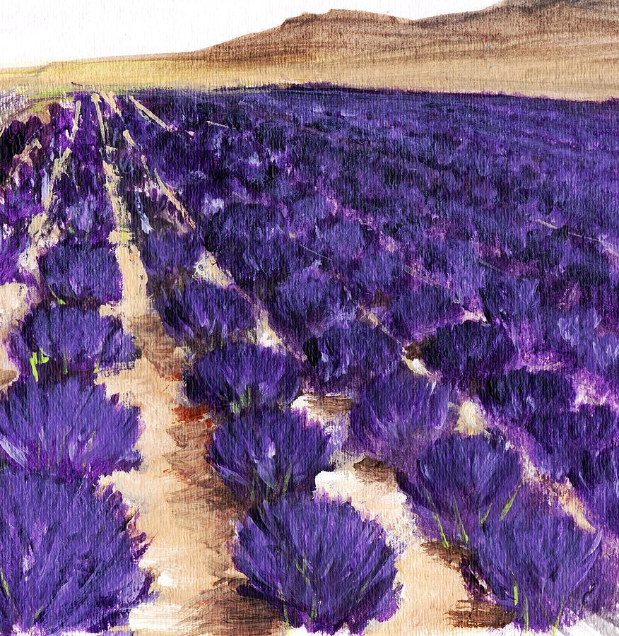 Lavender Study - Marignac-en-diois Painting