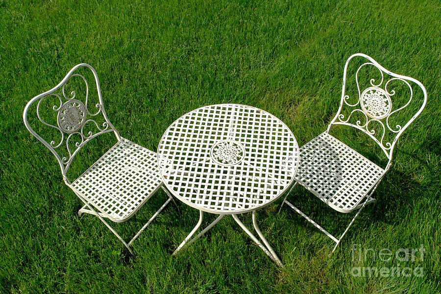 Lawn Furniture Photograph  - Lawn Furniture Fine Art Print