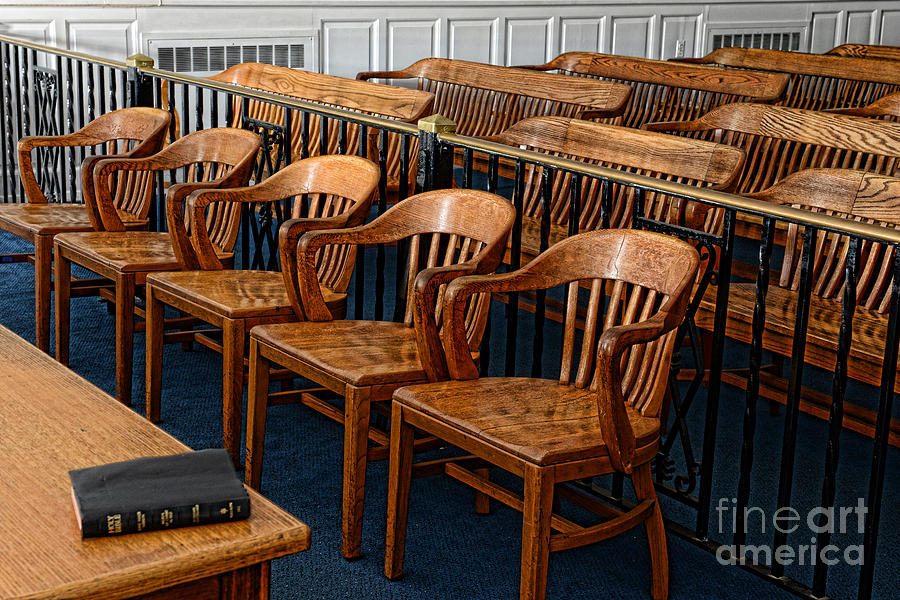 Lawyer - The Courtroom Photograph  - Lawyer - The Courtroom Fine Art Print