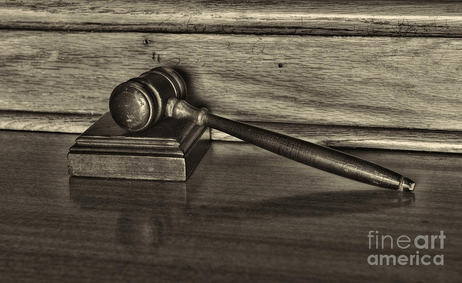 Lawyer - The Gavel Photograph  - Lawyer - The Gavel Fine Art Print