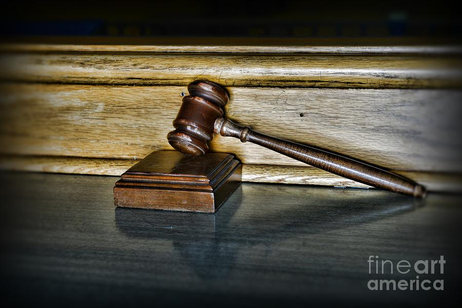 Lawyer - The Judges Gavel Photograph  - Lawyer - The Judges Gavel Fine Art Print