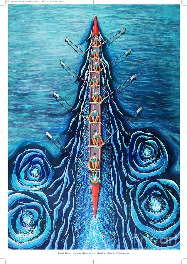 Blue Eight By O4rsom. Rowing Sport Of Champions Painting ...