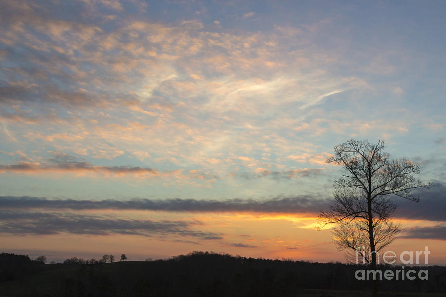 Sunset Sky Photograph - Lazy Day by Michael Waters
