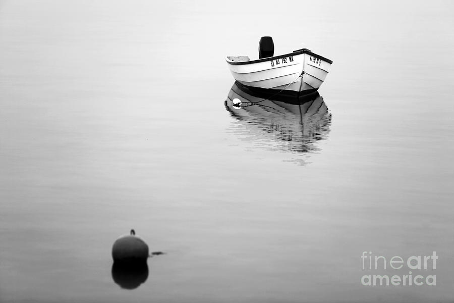 Lbi Boat Reflection Photograph  - Lbi Boat Reflection Fine Art Print
