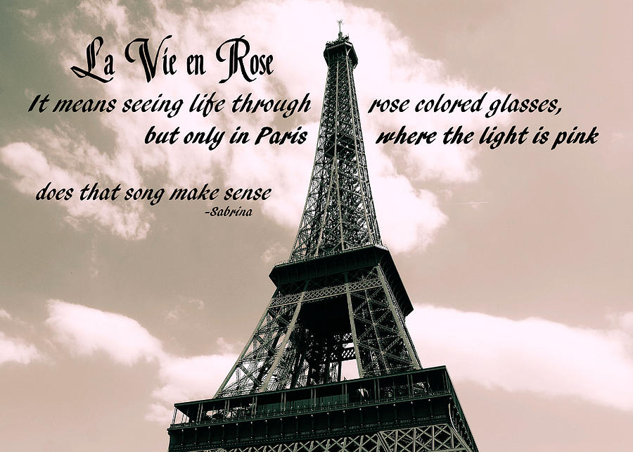 Le 58 Tour Eiffel Quote Photograph  - Le 58 Tour Eiffel Quote Fine Art Print