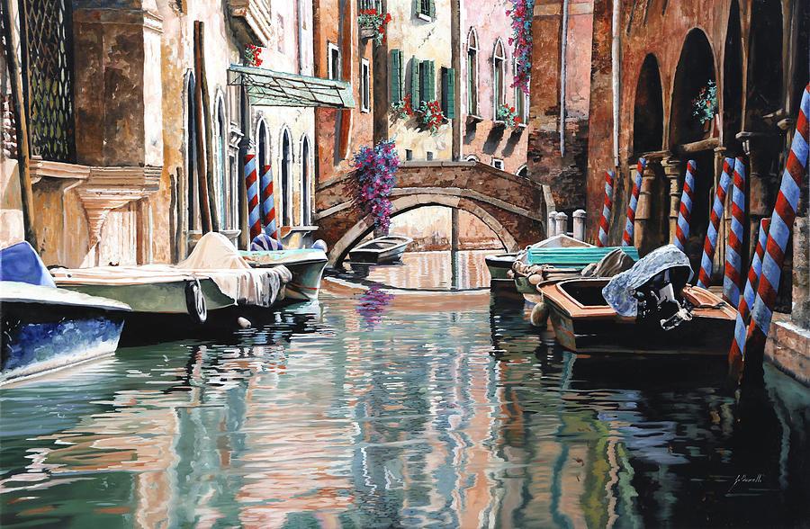 Le Barche E I Pali Colorati Painting