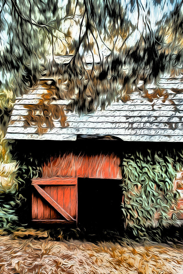 Le Barn Digital Art  - Le Barn Fine Art Print