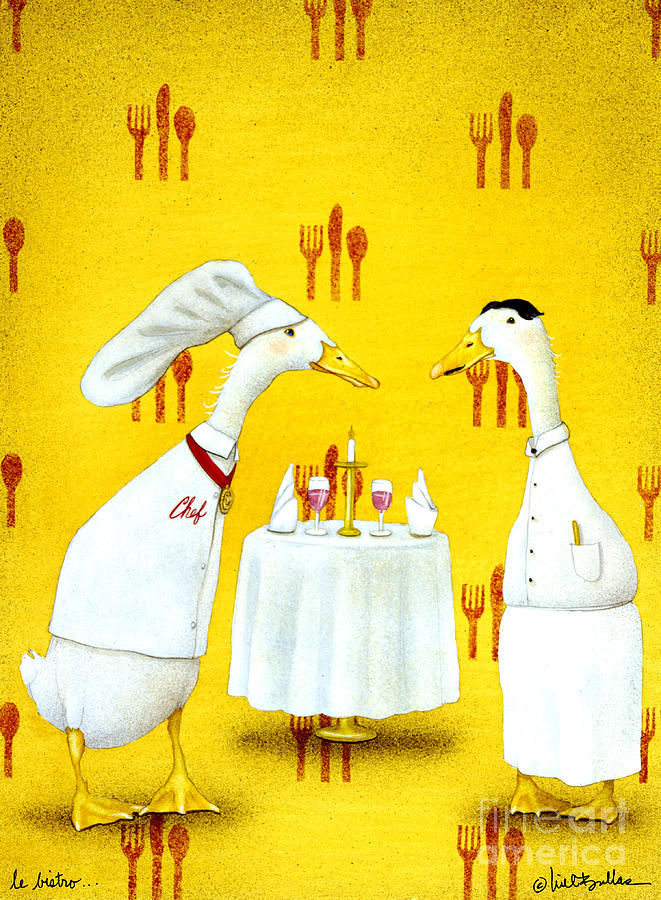 Will Bullas Painting - Le Bistro... by Will Bullas
