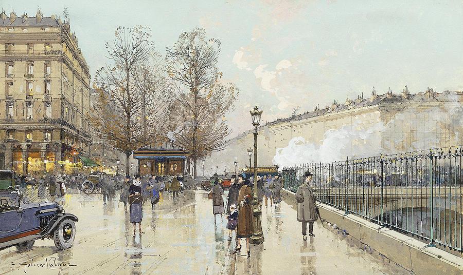 Le Boulevard Pereire Paris Painting