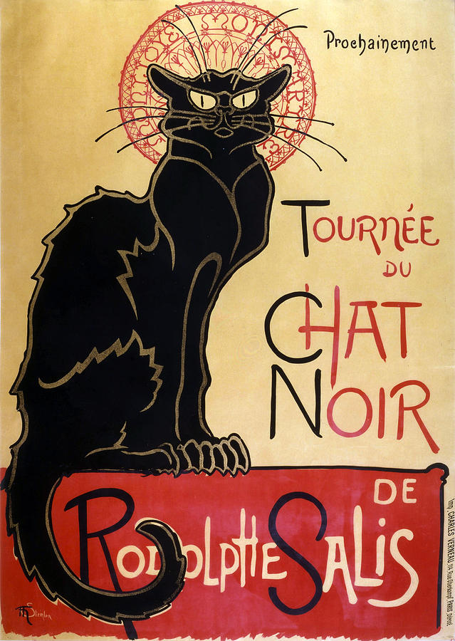 Le Chat Noir Digital Art  - Le Chat Noir Fine Art Print