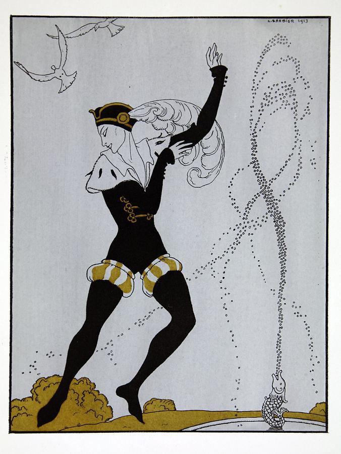 Ballet Painting - Le Pavillion Darmider by Georges Barbier
