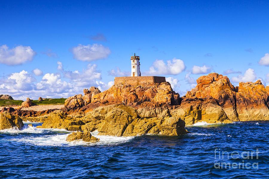 Le Phare Du Paon Lighthouse Brittany Ile De Brehat Photograph