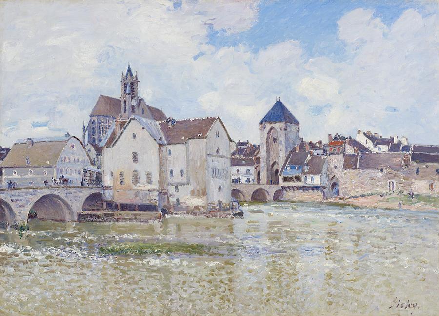 Le Pont De Moret Painting